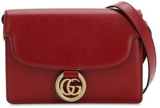 Gucci SM GG RING GRAINED LEATHER SHOULDER BAG
