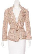Chanel Sequin-Embellished Belted Cardigan