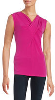 T Tahari Mattie Twist-Front Tank Top