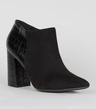 New Look Suedette Block Heel Shoe Boots