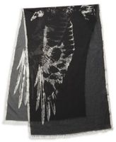 John Varvatos Abstract Eagle Fringe Scarf