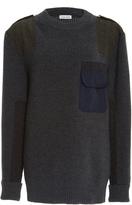 Tomas Maier Wool Pocket Sweater