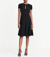 Lauren Ralph Lauren Jewel Neck Short Sleeve Crepe A-Line Dress