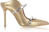 Malone Souliers Maureen Metallic Nappa Leather High Heel Mules