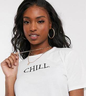 Asos Tall ASOS DESGIN Tall t-shirt with chill motif in organic cotton