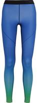 Nike Pro Hyperwarm Ombré Dri-fit Stretch-jersey Leggings - Blue