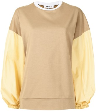 Enfold Colour-Block Panelled Sweatshirt