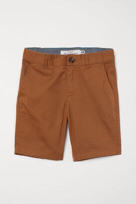 H&M Cotton Chino Shorts - Yellow