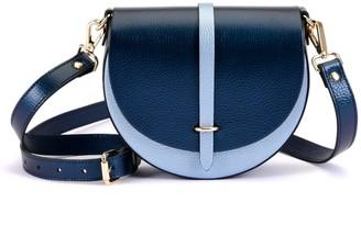Atelier Hiva Mini Arcus Leather Bag Metallic Navy Blue & Metallic Baby Blue