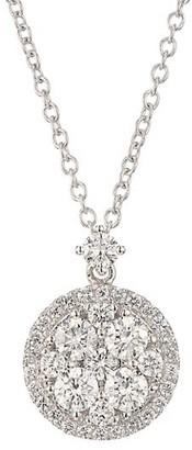 Alberto Milani Via Brera 18K White Gold & Diamond Round Pendant Necklace