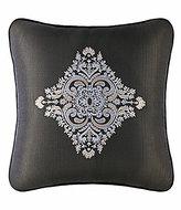 J Queen New York Bridgeport Velvet-Trimmed Embroidered Medallion Square Pillow
