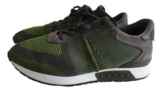 Tod's Green Cloth Trainers