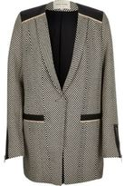 River Island Womens Grey herringbone long blazer