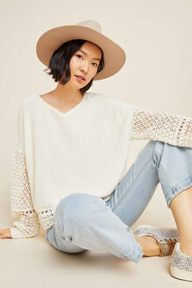 Anthropologie Hillary Crocheted Sweater