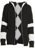 Saint Laurent Baja Wool Cable Knit Open Front Cardigan