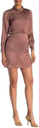 Reiss Emma Snake Burnout Print Satin Mini Dress
