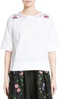 Comme des Garcons Embroidered Broadcloth Top