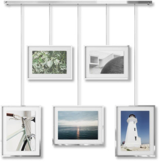 Umbra Chrome Exhibit Set of 5 Hanging Photo Frames