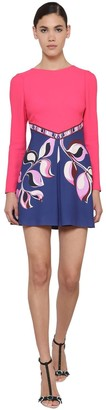Emilio Pucci Printed Cady Mini Dress