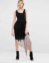 Religion Dip Dye Asymmetric Dress