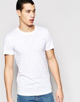 Selected Longline Short Sleeve Crew Neck T-Shirt