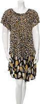 Issa Printed Silk Tier Dress