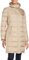 Cole Haan Faux Fur Trimmed Long Puffer Coat