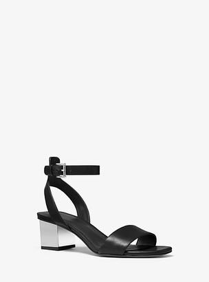 Michael Kors Petra Leather Sandal
