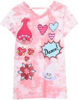 Freeze Pink 'Dance!' Trolls Cutout V-Neck Tee - Girls