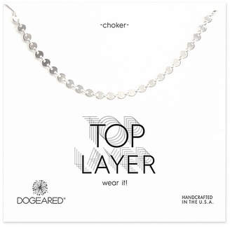 Dogeared Silver Choker Necklace