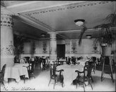 HistoricalFindings Photo: The New Willard Hotel,Washington,D.C.,Dining Room,1890-1950,tables,chairs