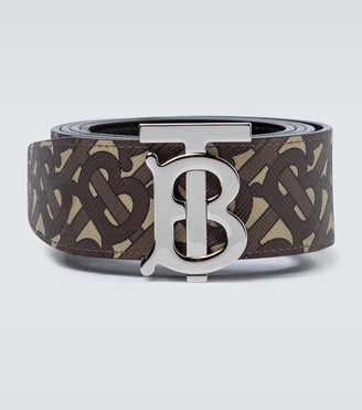 Burberry TB monogrammed leather belt
