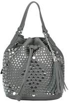 Twin-Set Women's Grey Faux Leather Shoulder Bag.