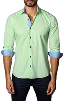 Jared Lang Cotton Button-Down Melange Sportshirt