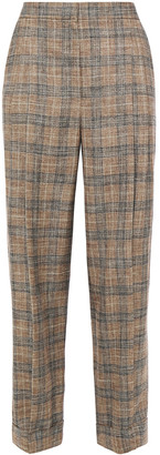 Brunello Cucinelli Checked Woven Wide-leg Pants