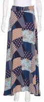 Sea Patchwork Silk Skirt w/ Tags