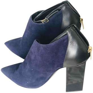 Jimmy Choo Blue Suede Ankle boots