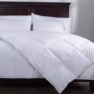 Pure Down Puredown Lightweight Down Comforter Duvet Insert 100% Cotton 550 Fill Power, Full/Queen Size, White