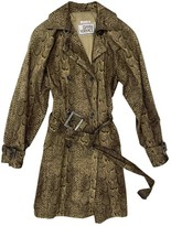 Gianni Versace Green Cotton Trench Coat for Women Vintage