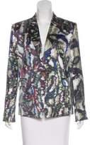 Theyskens' Theory Printed Silk Blazer