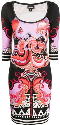 Just Cavalli Genesis-print mini dress