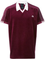 Adidas Originals By Alexander Wang - velour logo polo shirt - unisex - Cotton/Polyester - M