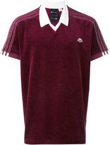 Adidas Originals By Alexander Wang - velour logo polo shirt - unisex - Cotton/Polyester - XS