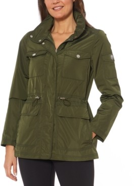 Vince Camuto Cinched-Waist Water-Resistant Anorak