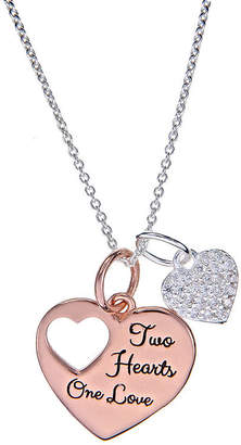 Footnotes Sterling Silver 18 Inch Cable Heart Pendant Necklace