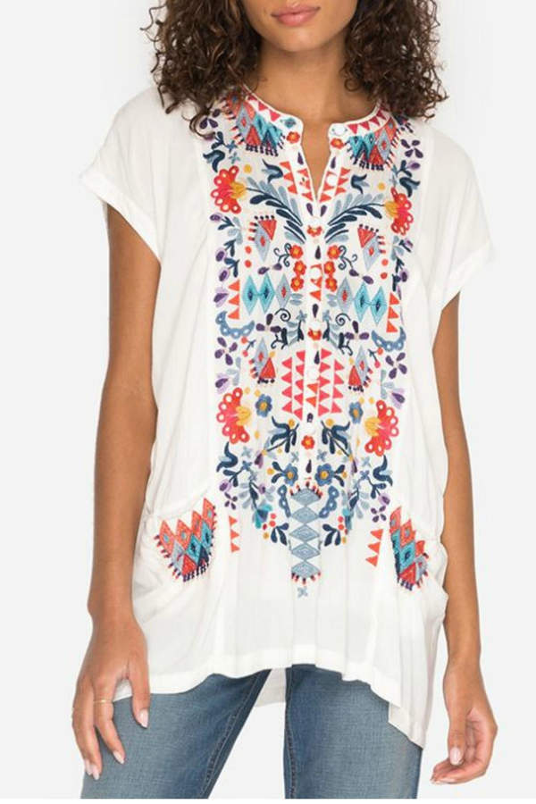Johnny Was Multi Embroidered Tunic