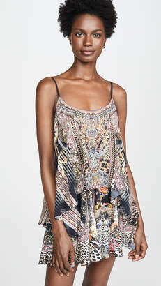 Camilla Flared Romper with Overlay