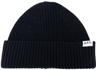 A.P.C. Ribbed-Knit Beanie Hat
