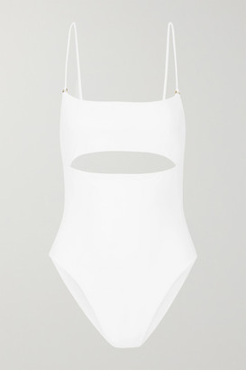 JADE SWIM Eclipse Cutout Swimsuit - White
