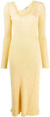 Jil Sander Ribbed Midi Dress
